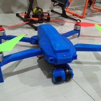 Small Foldable drone frame (wider body, higher ground clearence,bottom 3D Printing 124266