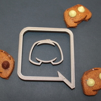 Small Discord App cookie cutter 3D Printing 124289