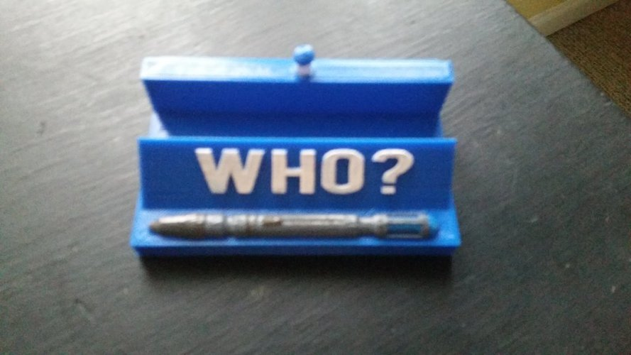 doctor who card holder 3D Print 124303