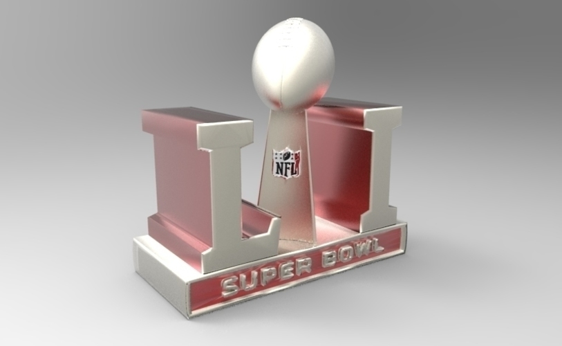 2017 NFL SUPER BOWL TROPHY & ALL 32 TEAM HELMETS  (PACKAGE) 3D Print 124359