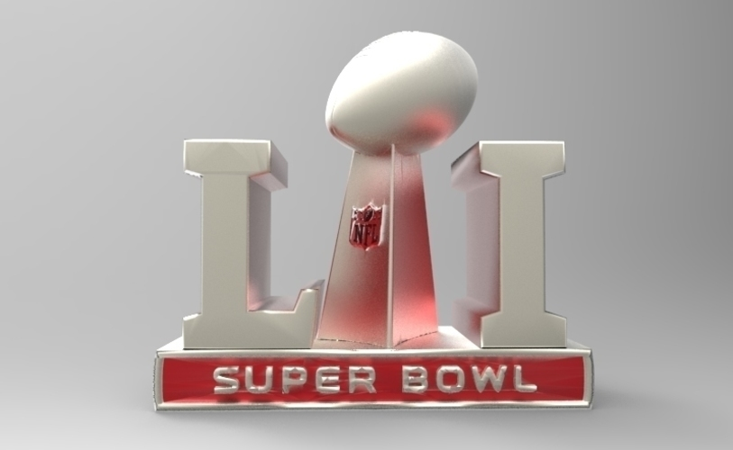 2017 NFL SUPER BOWL TROPHY & ALL 32 TEAM HELMETS  (PACKAGE) 3D Print 124360