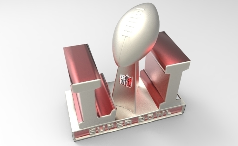 2017 NFL SUPER BOWL TROPHY & ALL 32 TEAM HELMETS  (PACKAGE) 3D Print 124363