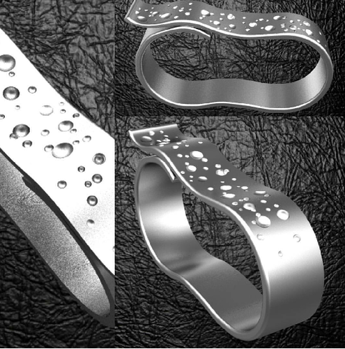 2 fingers fancy belt ring  3D Print 124406