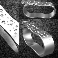 Small 2 fingers fancy belt ring  3D Printing 124406