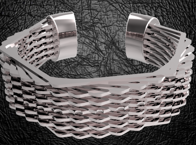 Hexagon bracelet 3D Print 124505