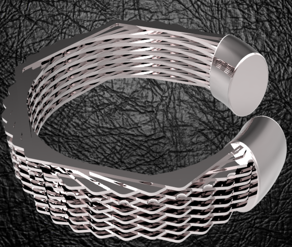 Hexagon bracelet 3D Print 124506
