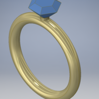 Small Diamond Ring 3D Printing 124637