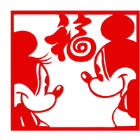 Small Mickey - Minnie Paper cutting window guards 3D Printing 124660