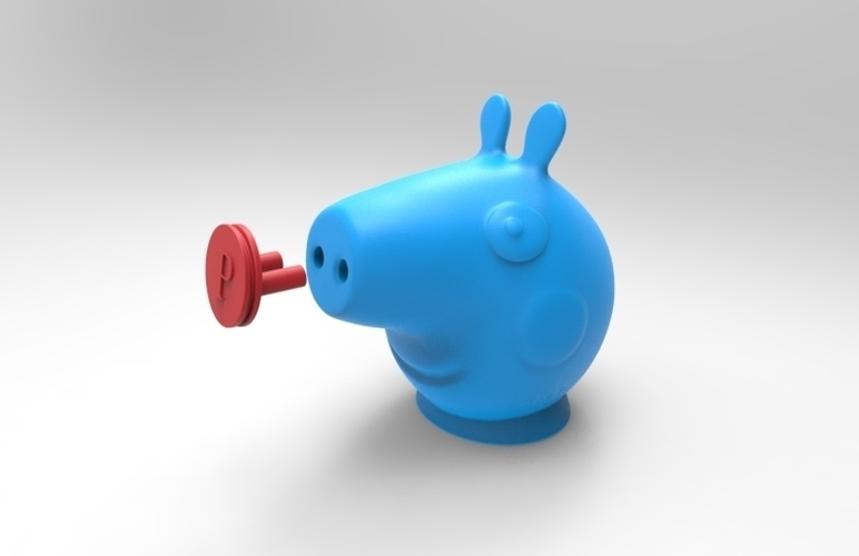 peppa toothpaste dispenser cap and plug 3D Print 124668