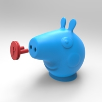 Small peppa toothpaste dispenser cap and plug 3D Printing 124668