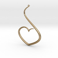 Small Love Heart Pendant 3D Printing 124675