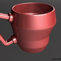 Small cubic coffee cup (CCC) 2 Kind 3D Printing 124684