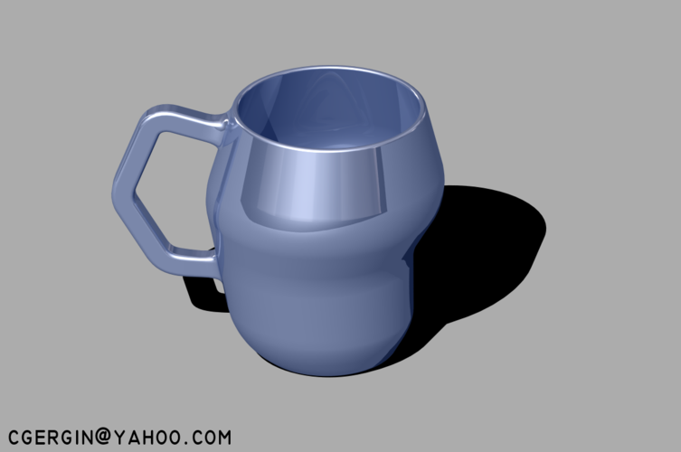 cubic coffee cup (CCC) 2 Kind 3D Print 124688
