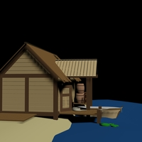 Small Wooden Hut 3D Printing 124690