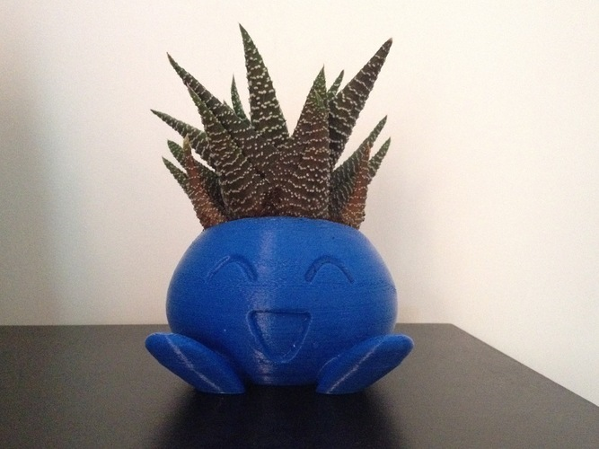 ODDRAIN : Oddish High Poly Planter [Printable without supports] 3D Print 124719