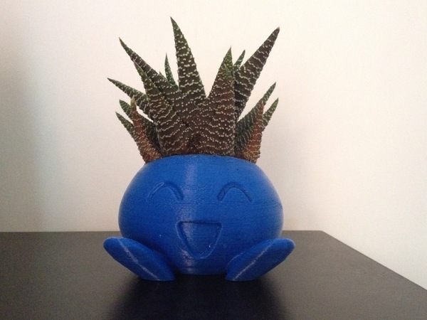Medium ODDRAIN : Oddish High Poly Planter [Printable without supports] 3D Printing 124719