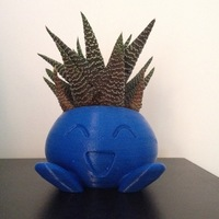 Small ODDRAIN : Oddish High Poly Planter [Printable without supports] 3D Printing 124719