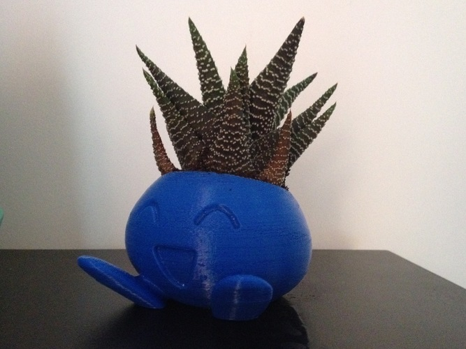 ODDRAIN : Oddish High Poly Planter [Printable without supports] 3D Print 124721
