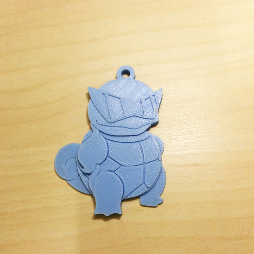 Squirtle Key chain 3D Print 124728
