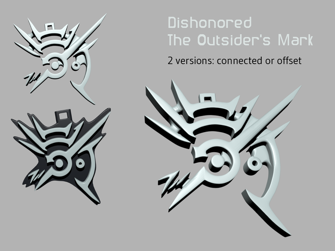 Dishonored - The Outsider's Mark 3D Print 124730
