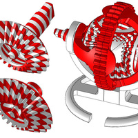 Small Gears - Candy Cane Remix 3D Printing 124777