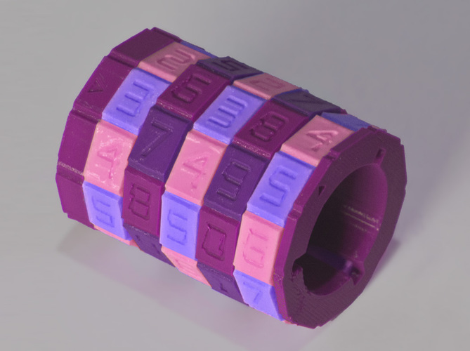 Combination Safe 00 - Dual Material Rings  3D Print 124791