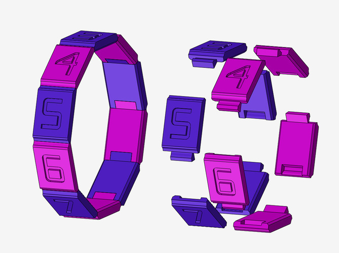 Combination Safe 00 - Dual Material Rings  3D Print 124795