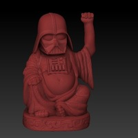 Small Darth Vader Lucky Buddha 3D Printing 124832