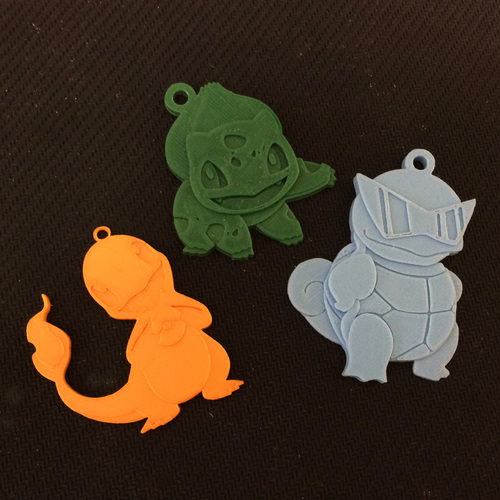 Charmander Key Chain 3D Print 124877