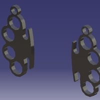 Small Knuckle-Duster - Earrings 3D Printing 124884