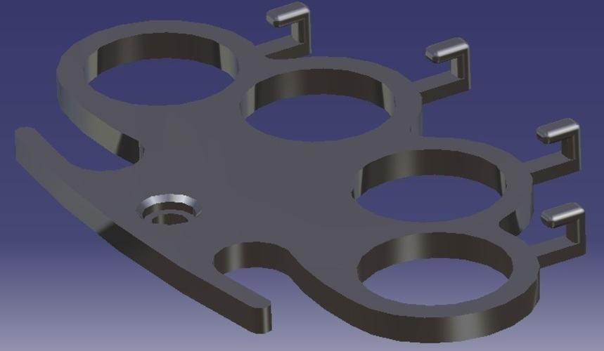 Knuckle-Duster - Hanger 3D Print 124891