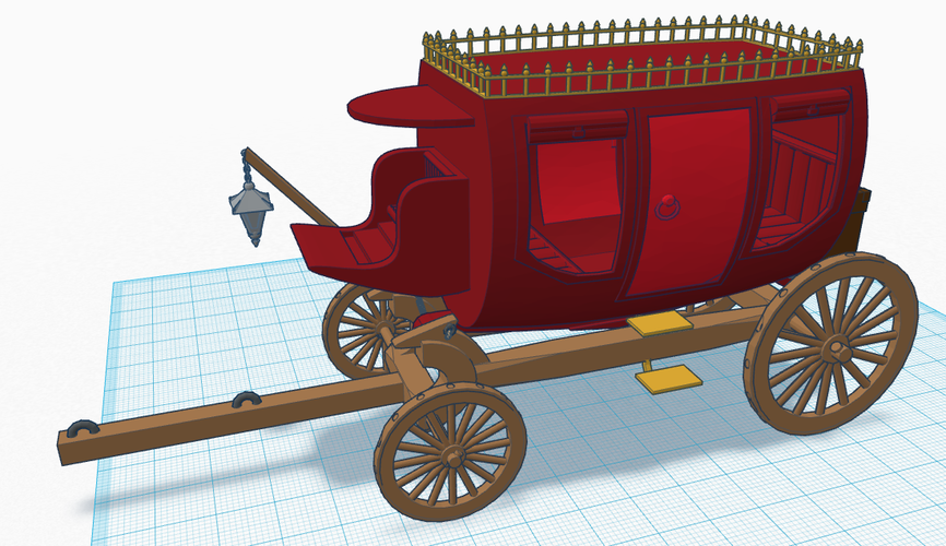 Old Stagecoach / Chariot 3D Print 124909