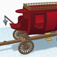 Small Old Stagecoach / Chariot 3D Printing 124909