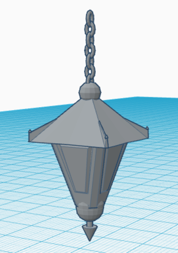 Old Hanging Lamp 3D Print 124919