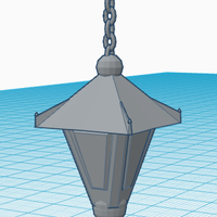 Small Old Hanging Lamp 3D Printing 124919