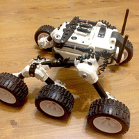 Small Martian rover 3D Printing 124954