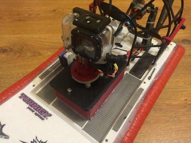 HobbyKing Swamp Dawg Air Boat Tuning  under the large battery 3D Print 124989