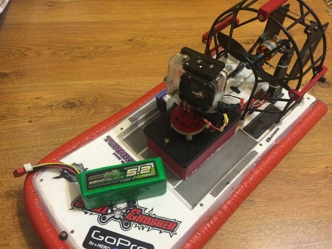 HobbyKing Swamp Dawg Air Boat Tuning  under the large battery 3D Print 124990