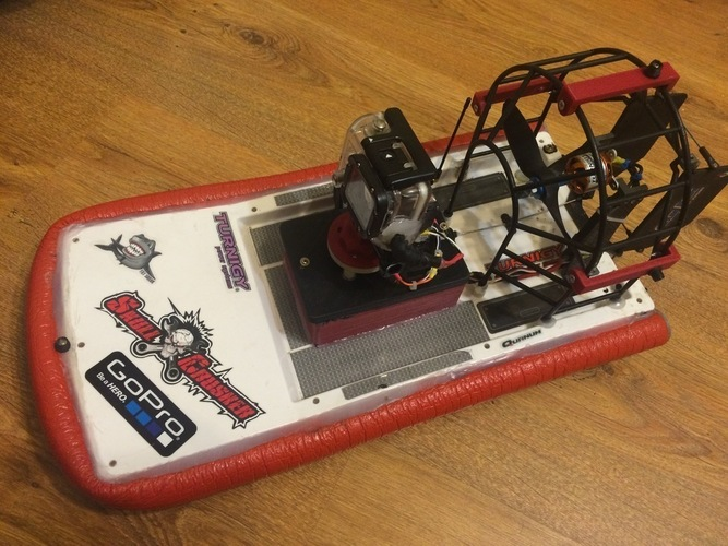 HobbyKing Swamp Dawg Air Boat Tuning  under the large battery 3D Print 124992