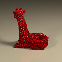 Small GIRAFFE CANDLE HOLDER 3D Printing 125074