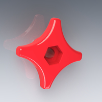 Small Star Knob / 4 arms / M6 bolt or nut 3D Printing 125094