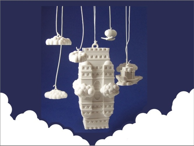 The Impossible Castle (Ornamental Mobile) 3D Print 1251