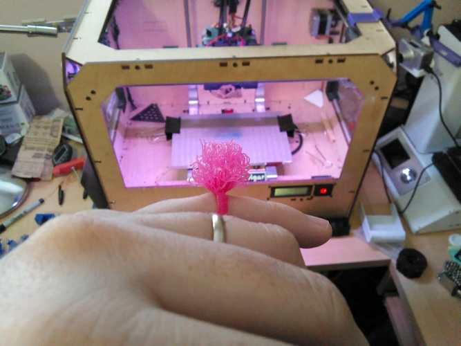 3D printed pompom ring 3D Printing 125137