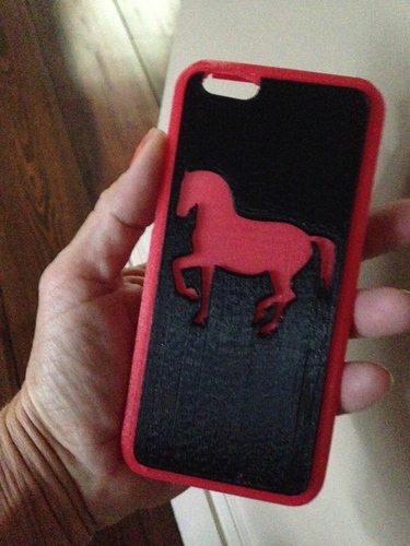iPhone case Horse 2 part 3D Print 125159
