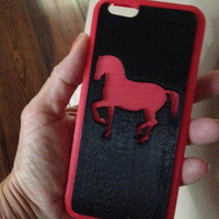 Small iPhone case Horse 2 part 3D Printing 125159