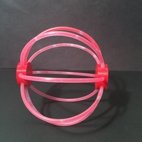 Small 8' Glow stick Ball 3D Printing 125325