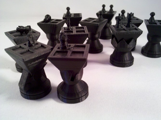 MetaChess Chess-on-Chess game variant 3D Print 125362