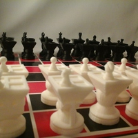 Small MetaChess Chess-on-Chess game variant 3D Printing 125363