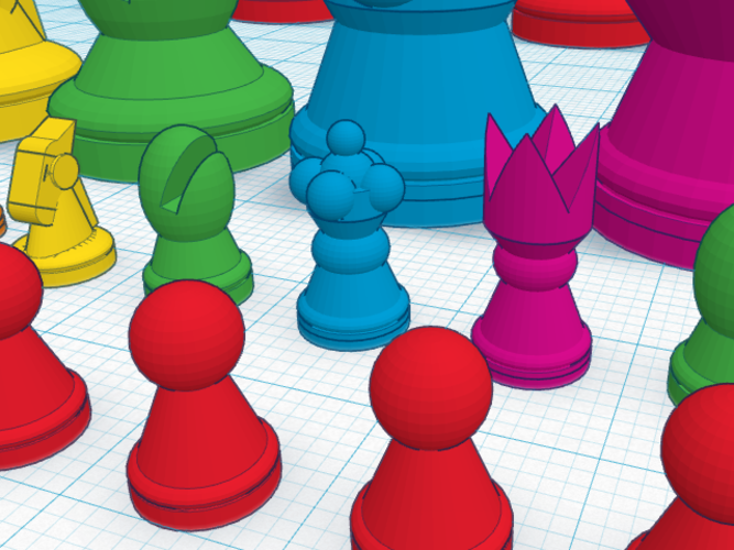 MetaChess Chess-on-Chess game variant 3D Print 125366