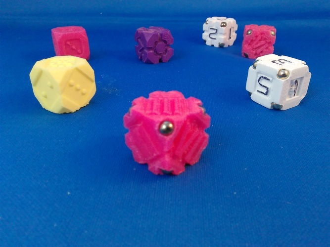 EarthDice Variation 5 - Corners 3D Print 125485